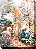 """Набор для вышивки бисером """"Ангел в саду"""""""