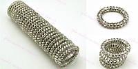 Резинка спираль силиконовая Adidas серебро
