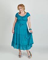 422a553b7f6 Платье макси батал пуговицы на лифе в расцветках
