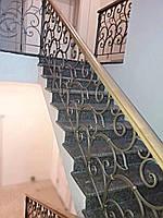 Лестница для дома, перила и ограждение с элементами художественной ковки