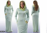 0277f3fe498 Трикотажное платье в пол с капюшоном оптом в категории платья ...
