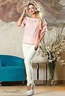 Женская летняя свободная блуза с открытыми плечами
