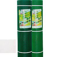 "Сетка пластиковая (""забор"") 10мм х 10мм 1м х 20м зеленая/темно-зеленая"