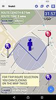 Мобильное приложение Android, iOS и Веб сайт для службы такси или доставки