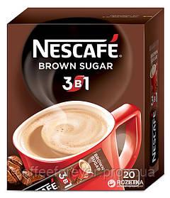 Кофейный напиток Nescafe Brown Sugar 3 в 1 ,20 пак