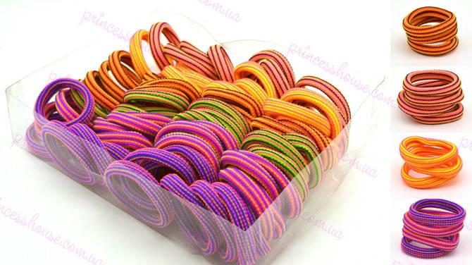 Резинка для волос полосатая разноцветная