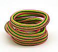 Резинка для волос полосатая разноцветная, фото 6