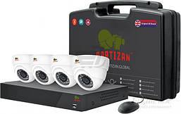 Комплект для внутреннего  видеонаблюдения Partizan Indoor Kit 1MP 4xAHD
