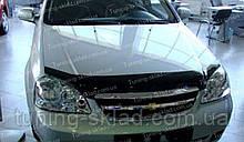 Дефлектор Шевроле Лачетти седан (мухобойка на капот Chevrolet Lacetti sedan)