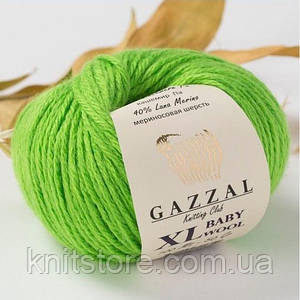 Пряжа Gazzal Baby Wool XL Зелень