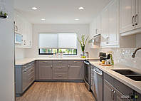 Дизайн-проект кухни, деревяные фасады