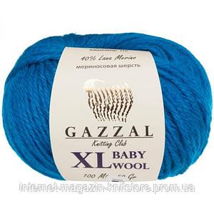 Пряжа Gazzal Baby Wool XL Синій