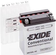 Аккумулятор мото EXIDE 12V 12AH 165A YB12AL-A2/EB12AL-A2 [135X80X160]