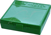 Кейс MTM д/пист.патр 45 ACP, 10mm Auto, 40 S&W, на 100 патр. ц:зеленый