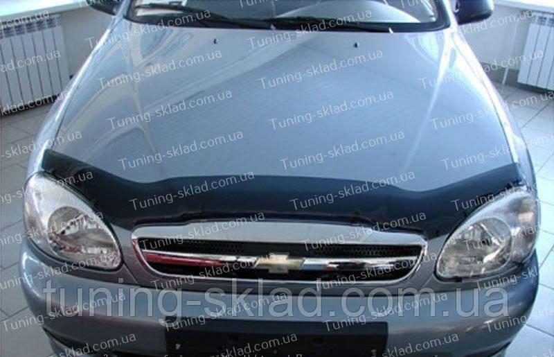 Дефлектор Шевроле Ланос (мухобойка на капот Chevrolet Lanos)