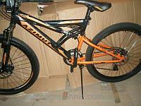 Спортивный велосипед 26 дюймов Azimut Venus 110-G-FR/D-1(оборудование SHIMANO)черно-оранжевый ***