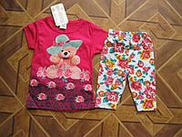 Летний детский костюм Мишка для девочки 1-3 года Турция хлопок