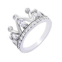 """Серебряное кольцо """"Царица"""" с прозрачными фианитами"""