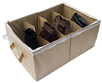 Органайзер для обуви на 4 пары, бежевый