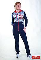 Спортивный костюм женский Billcee Турция трикотаж капюшон