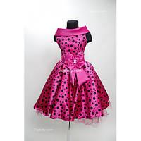 Платье детское праздничное Ретро горошек (7-10 лет)