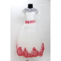 Платье детское праздничное Валерия бархат (5 цветов) 5-6 лет