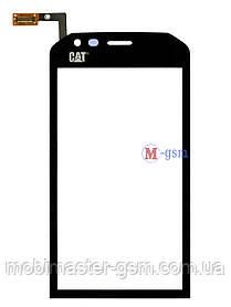 Сенсор (тачскрин) для телефона Caterpillar Cat S40 черный
