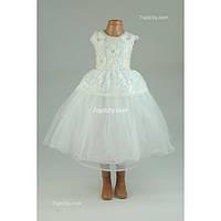 Платье нарядное кремовое 4-6 лет Dina13