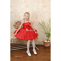 Платье детское нарядное Горох 5-7 лет
