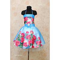 Платье нарядное 3D 8-10 лет Dina-013