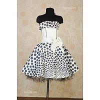 Платье детское нарядное Горох 8-10 лет