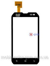 Сенсор (тачскрин) для телефона Caterpillar CAT B15 черный
