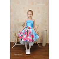 Платье нарядное 3D 6-7 лет Dina-023