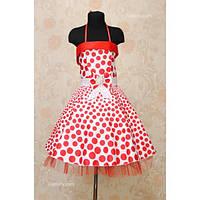 Платье детское нарядное Горох 7-9 лет