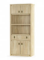 Книжный шкаф 4д1ш Валенсия самоа