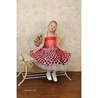 Платье детское нарядное Горох 6-7 лет