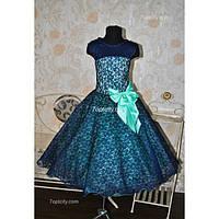 Платье нарядное Гипюр 7-10 лет Dina-049
