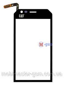 Сенсор (тачскрин) для телефона Caterpillar CAT S30 черный