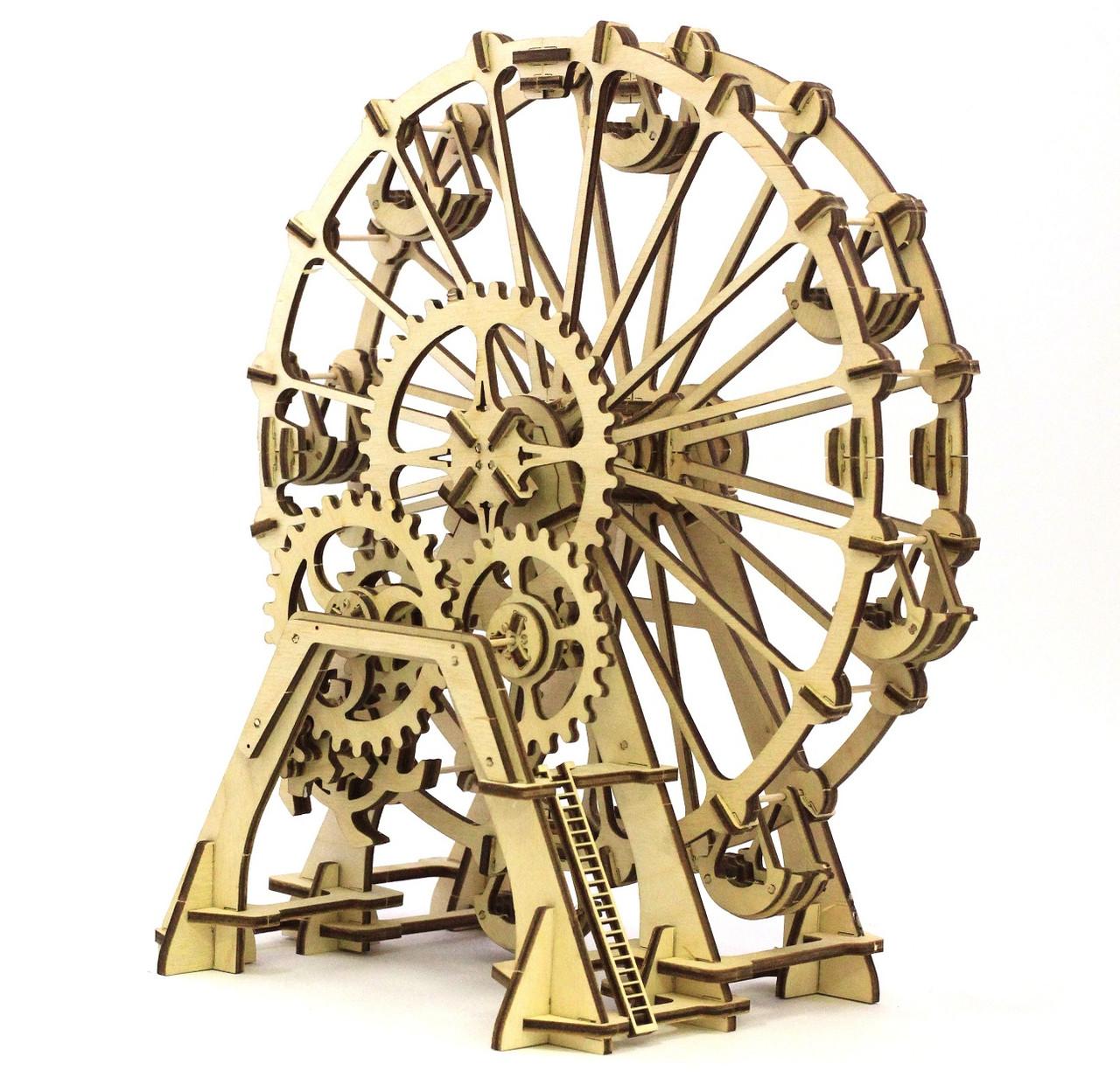 "Механический 3D пазл ""Колесо обозрения"" Wood Trick"