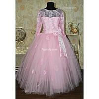 Платье нарядное Алена розовое 8-11 лет Dina-053