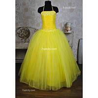 Платье нарядное Корсет желтое 10-16 лет Dina-063