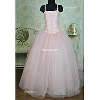 Платье нарядное Корсет розовое 10-16 лет Dina-064