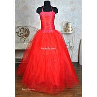 Платье нарядное Корсет красное 10-16 лет Dina-061