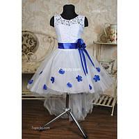 Платье нарядное Шлейф роза 6-7 лет Dina-065