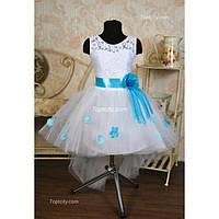 Платье нарядное Шлейф роза 6-7 лет Dina-067