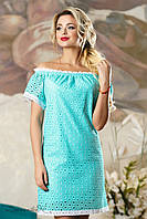 Женское летнее свободное платье из натуральной ткани  + большой размер