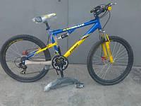 Спортивный велосипед 26 дюймов Azimut Ultimate 117(оборудование SHIMANO)сине -желтый ***