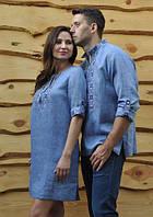 Вышиванка мужская и женское платье с вышивкой. Модель М19/1-273 и П07/19-273