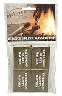 Влагостойкие спички (упаковка 4 коробки). Mil-tec, Германия.
