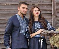 Вышиванка мужская и женское платье с вышивкой. Модель М01/1-293 и П16/10-293